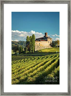 Castello Della Volta - Barolo Framed Print by Brian Jannsen