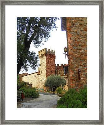 Castello Di Amorosa Napa Valley California Framed Print by Irina Sztukowski