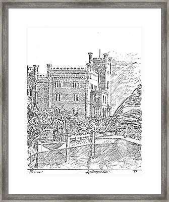 Castello Di Miramare Framed Print by Anthony Meton