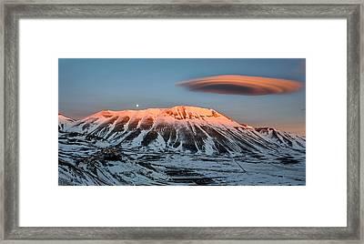 Castelluccio Di Norcia, Umbria, Italy Framed Print by Francesco Santini