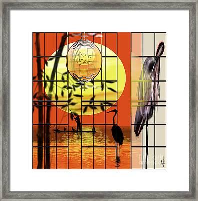 Castigated Reflection-no Longer In The Light Framed Print