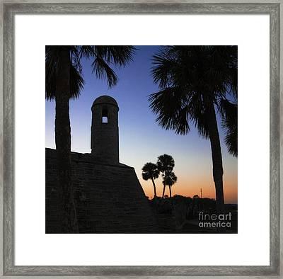 Castillo At Dusk -- Castillo De San Marcos, St Augustine Florida Framed Print