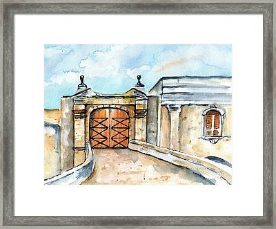 Castillo De San Cristobal Entry Gate Framed Print