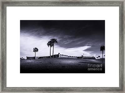 Castillo De San Marcos-b/w Framed Print by Marvin Spates