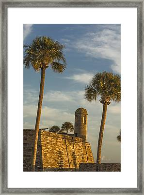 Castillo De San Marcos Dawn II Framed Print by Joan Carroll