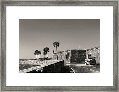 Castillo De San Marcos, Monochrome Framed Print by Gordon Beck