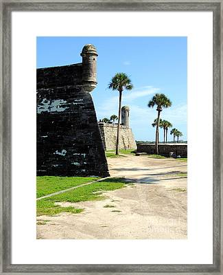 Framed Print featuring the photograph Castillo De San Marcos St Augustine Florida by Bill Holkham