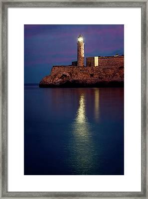 Castillo Del Morro Lighthouse Havana Cuba Framed Print