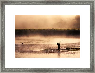 Casting Away Framed Print by Todd Klassy