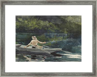 Casting  Number Two Framed Print by Winslow Homer