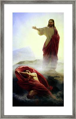 Casting Out Satan Framed Print by Carl Bloch