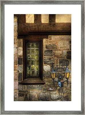 Castle - Coat Of Arms Framed Print by Mike Savad