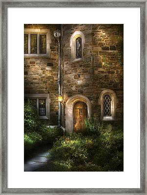 Castle - Enter If You Dare Framed Print by Mike Savad