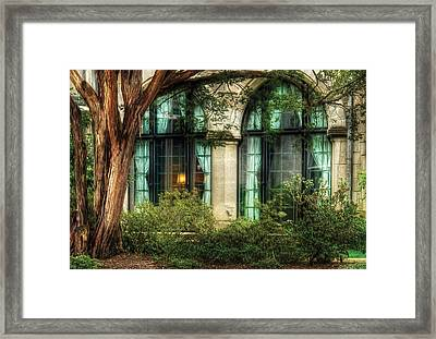 Castle - The Castle Windows Framed Print by Mike Savad