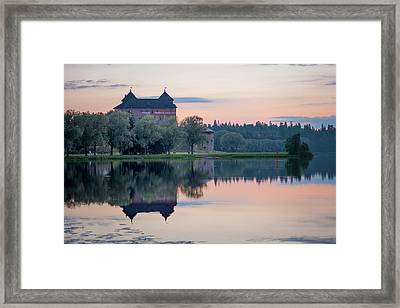 Castle After The Sunset Framed Print by Teemu Tretjakov