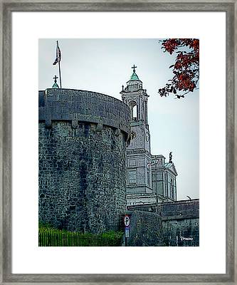 Castle And Church Athlone Ireland Framed Print