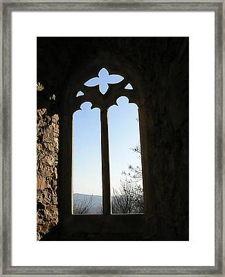 Castle  Another Window Framed Print by Ron Hayes