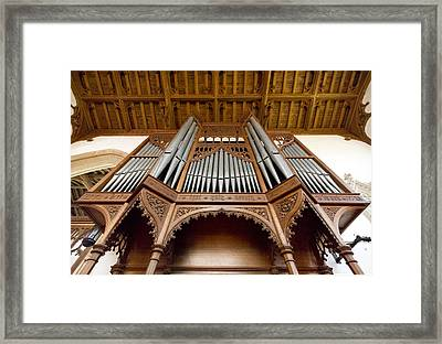 Castle Ashby Pipe Organ Framed Print