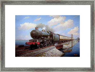 Castle At Starcross Framed Print by Mike  Jeffries