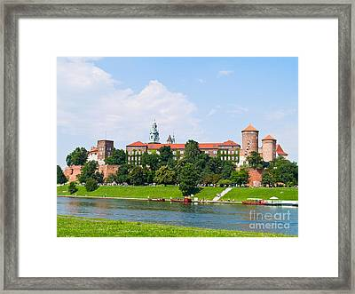 Castle At Wawel Hill In Krakow Framed Print by Anastasy Yarmolovich