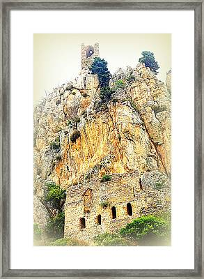Living In The Old Castle  Framed Print by Hilde Widerberg