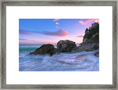 Castle Beach Framed Print
