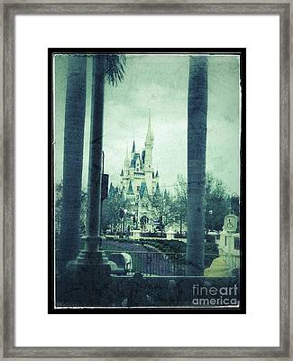 Castle Between The Palms Framed Print