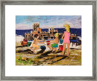 Framed Print featuring the painting Castle Builders by John Williams