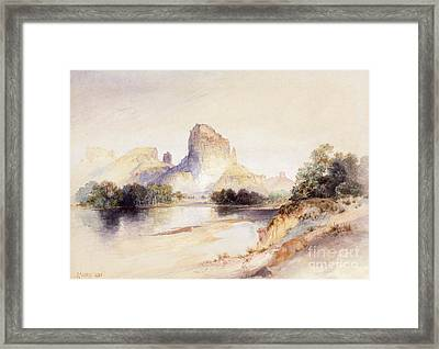 Castle Butte, Green River, Wyoming Framed Print by Thomas Moran