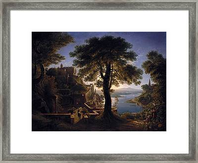 Castle By The River Framed Print by MotionAge Designs