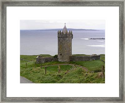 Castle By The Sea In Ireland Framed Print