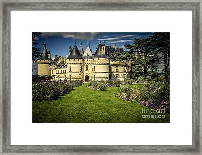 Framed Print featuring the photograph Castle Chaumont With Garden by Heiko Koehrer-Wagner