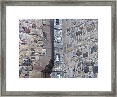 Castle Clock Through Walls Framed Print