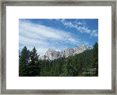 Castle Crags Framed Print by Charles Robinson
