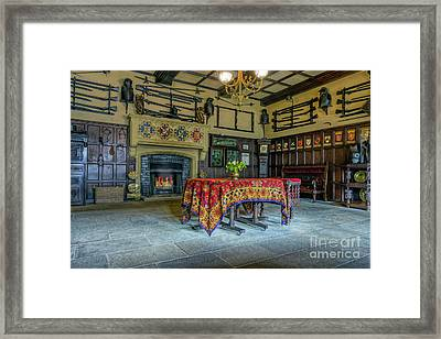 Castle Dining Room Framed Print by Ian Mitchell