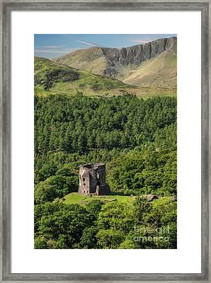 Castle Dolbadarn  Framed Print by Adrian Evans