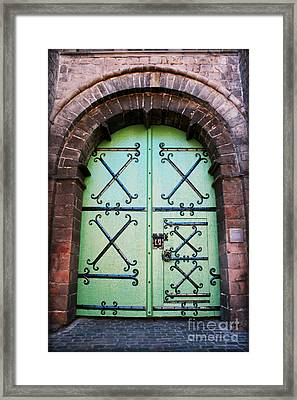 Castle Door Framed Print