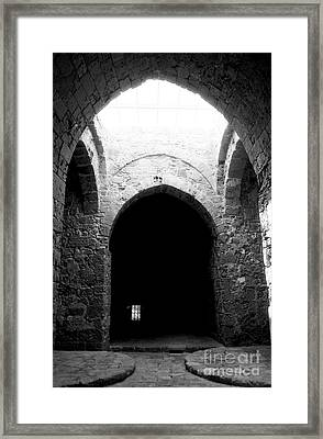 Castle Dungeon Framed Print by John Rizzuto