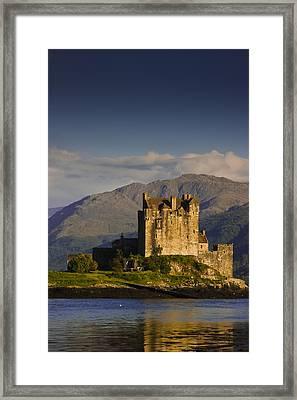 Framed Print featuring the photograph Castle Eilean Donan by Gabor Pozsgai