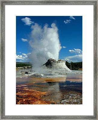 Castle Geyser Puttin Framed Print
