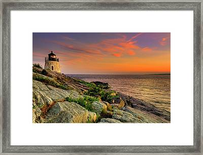 Castle Hill Lighthouse - Newport Rhode Island Framed Print by Thomas Schoeller