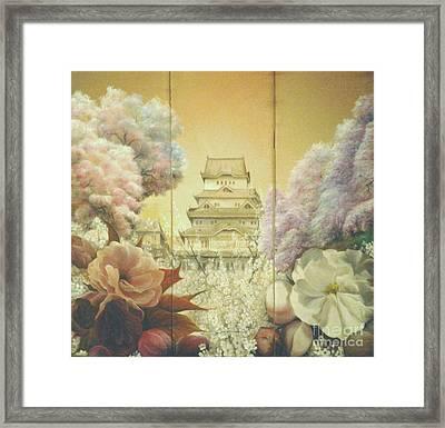 Castle Himeji - Sakura Framed Print by Sorin Apostolescu