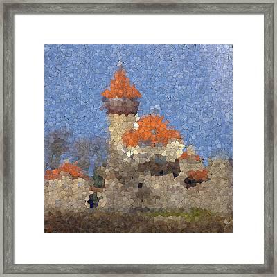 Castle Hnevin Glass Mosaic Framed Print by Miroslav Nemecek