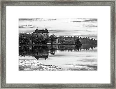 Castle In Black And White Framed Print by Teemu Tretjakov