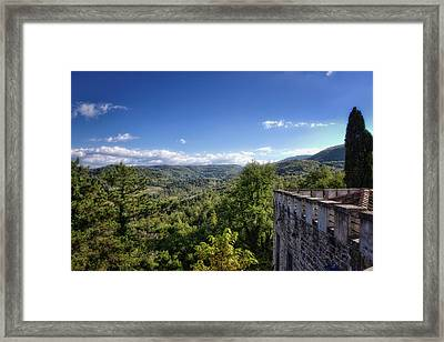 Castle In Chianti, Italy Framed Print