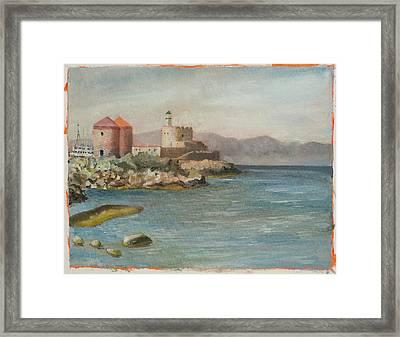 Castle In Italy Framed Print