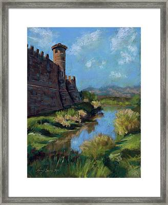 Castle In The Clouds Framed Print by Mary Benke