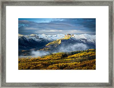 Framed Print featuring the photograph Castle In The Clouds by Phyllis Peterson