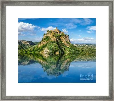 Castle In The Lake Framed Print
