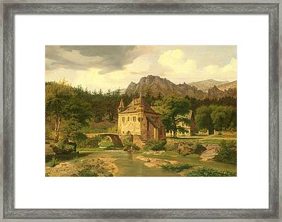 Castle In The Mountains Framed Print by Carl Dahl